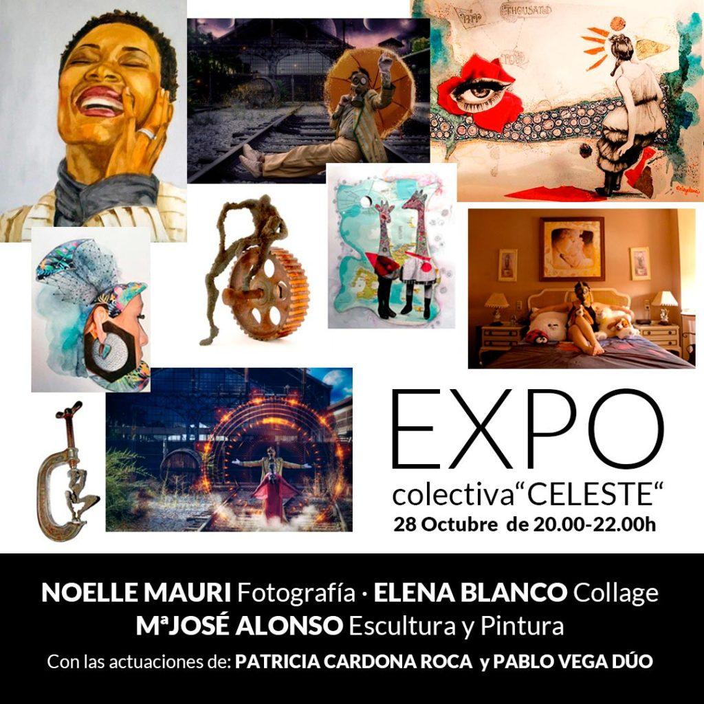 Exposicion de arte colectiva CELESTE en Madrid en El Sitio S